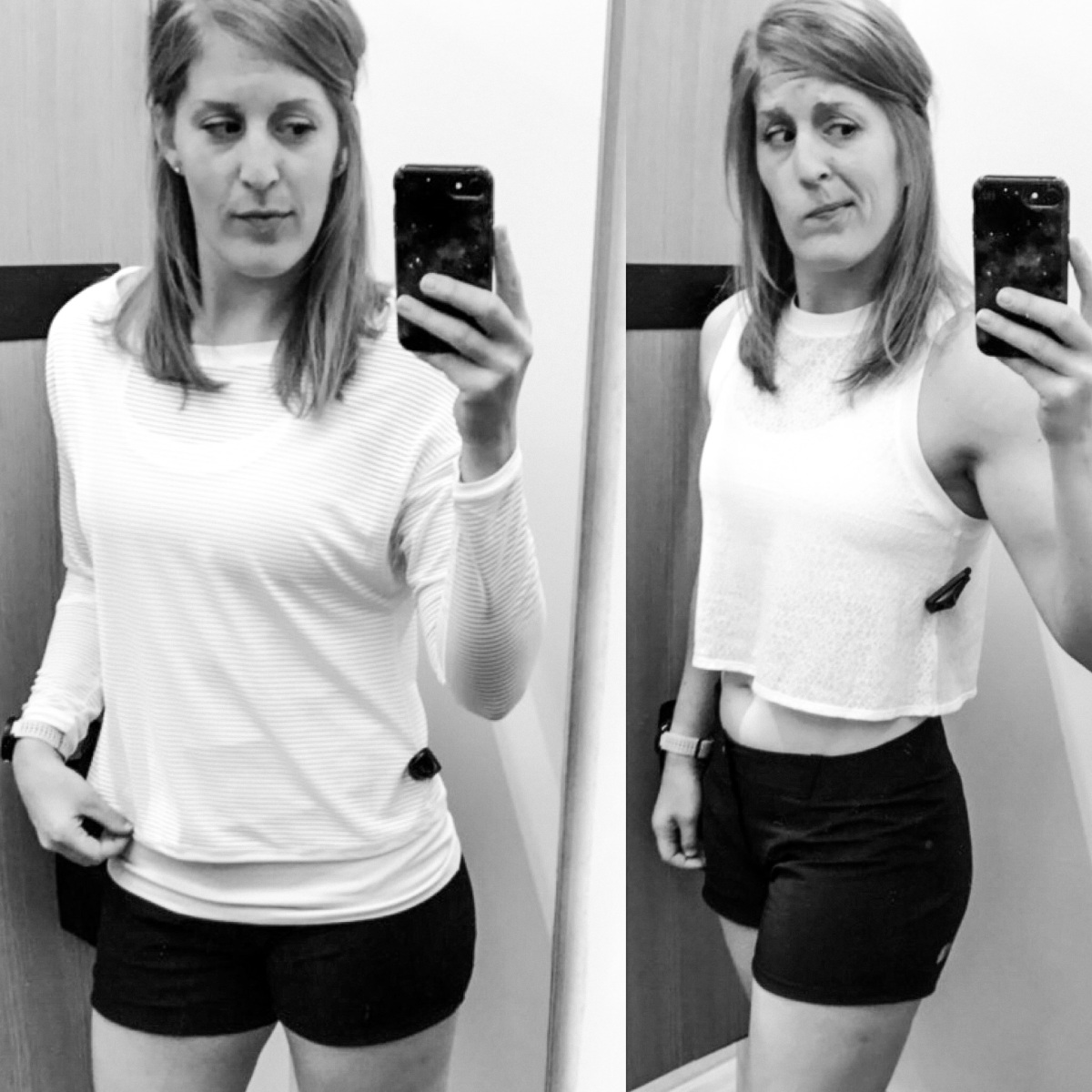 The Fitting Room: Lululemon Lean In LS & Hint of Sheer Cropped Tank